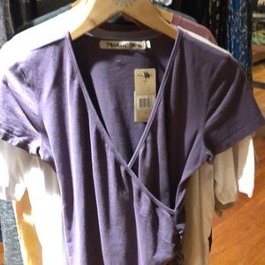 Michael Stars Bella Ruched top in acai